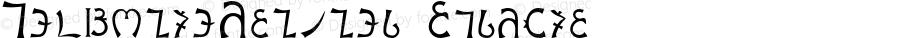 EnochianWriting Regular OTF 1.0;PS 001.000;Core 116;AOCW 1.0 161