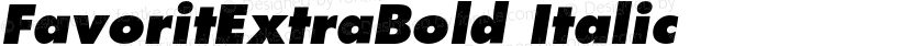 FavoritExtraBold Italic Preview Image