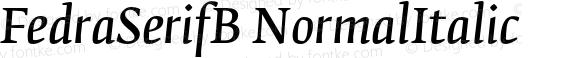 FedraSerifB NormalItalic