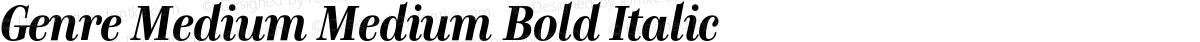 Genre Medium Medium Bold Italic