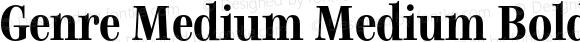 Genre Medium Medium Bold