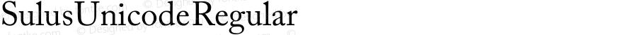 Sulus Unicode Regular Version 1.00