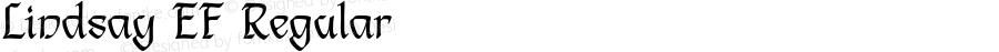 Lindsay EF Regular Macromedia Fontographer 4.1 19.03.02