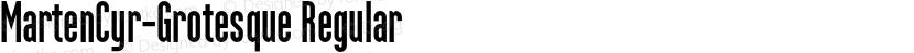 MartenCyr-Grotesque Regular Preview Image
