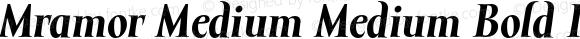 Mramor Medium Medium Bold Italic