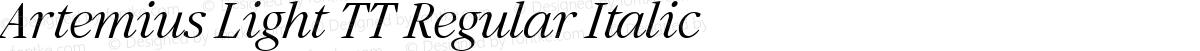 Artemius Light TT Regular Italic