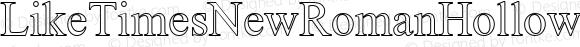 LikeTimesNewRomanHollow Regular Perry Mason                 15 05 01