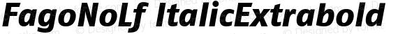 FagoNoLf ItalicExtrabold