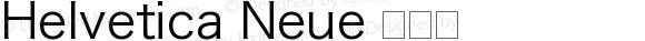 Helvetica Neue 瘦斜体