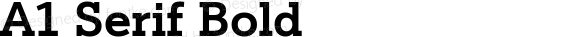 A1 Serif Bold