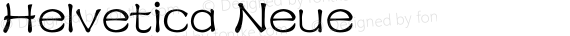 Helvetica Neue 紧缩粗体 preview image