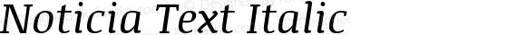 Noticia Text Italic Version 1.003