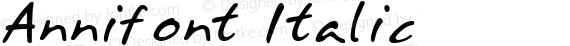 Annifont Italic preview image
