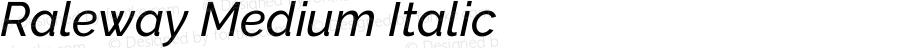 Raleway Medium Italic