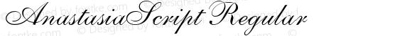 AnastasiaScript Regular Version 001.001