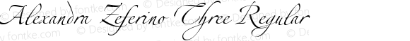 Alexandra Zeferino Three Regular Version 2.001;PS 002.000;hotconv 1.0.38