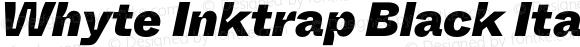 Whyte Inktrap Black Italic