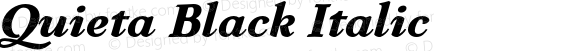 Quieta Black Italic