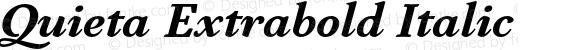 Quieta Extrabold Italic