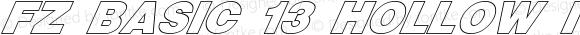FZ BASIC 13 HOLLOW ITALIC BASIC13HOLLOWITALIC Version 1.000
