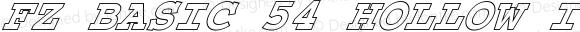 FZ BASIC 54 HOLLOW ITALIC BASIC54HOLLOWITALIC Version 1.000