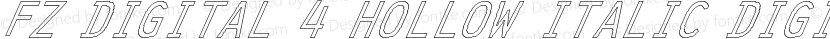FZ DIGITAL 4 HOLLOW ITALIC DIGITAL4HOLLOWITALIC Preview Image