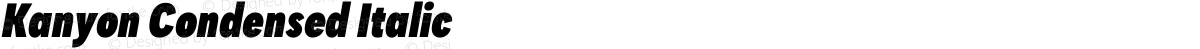 Kanyon Condensed Italic