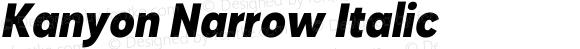 Kanyon Narrow Italic