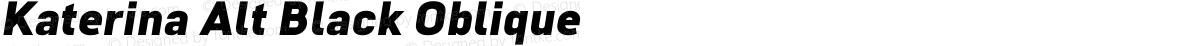 Katerina Alt Black Oblique