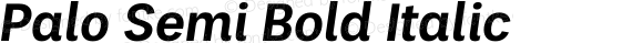 Palo Semi Bold Italic