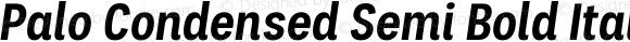 Palo Condensed Semi Bold Italic