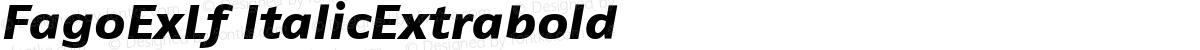 FagoExLf ItalicExtrabold