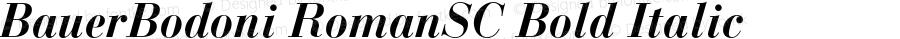 BauerBodoni RomanSC Bold Italic OTF 1.0;PS 001.000;Core 1.0.22