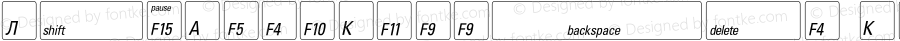 KeyFontRussian Regular OTF 1.0;PS 001.000;Core 116;AOCW 1.0 161