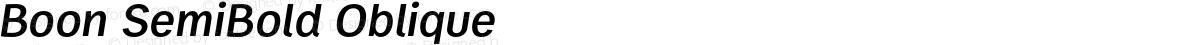Boon SemiBold Oblique