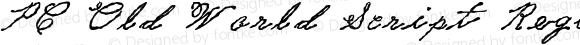 PC Old World Script Regular Macromedia Fontographer 4.1 1/12/2006