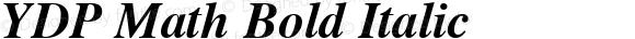 YDP Math Bold Italic