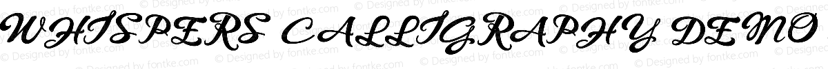 WHISPERS CALLIGRAPHY_DEMO_essential_BOLD Regular