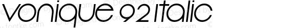 Vonique 92 Italic preview image