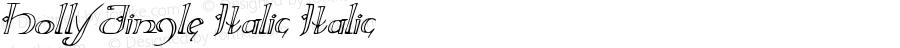 Holly Jingle Italic Italic Version 1.0; 2015