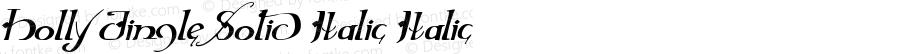 Holly Jingle Solid Italic Italic Version 1.0; 2015