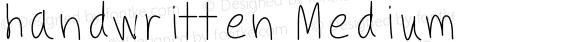handwritten Medium