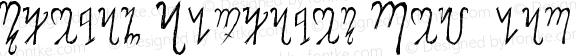 Theban Alphabet Regular Version 1.00 May 22, 2008, initial release