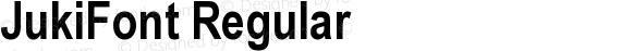 JukiFont Regular preview image