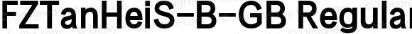 FZTanHeiS-B-GB Regular