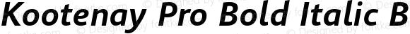 Kootenay Pro Bold Italic Bold Italic