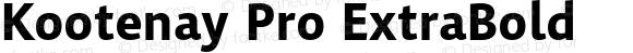 Kootenay Pro ExtraBold