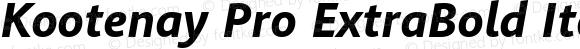 Kootenay Pro ExtraBold Italic
