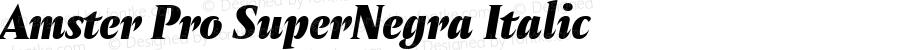 Amster Pro SuperNegra Italic Version 1.000;PS 001.000;hotconv 1.0.70;makeotf.lib2.5.58329