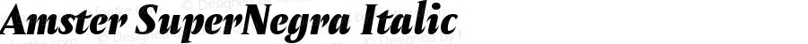 Amster SuperNegra Italic Version 1.000;PS 001.000;hotconv 1.0.70;makeotf.lib2.5.58329